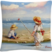 Trademark Fine Art Rosa At The Beach III Decorative Throw Pillow