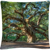 Trademark Fine Art Pierre Leclerc Angel Oak Charleston Decorative Throw Pillow