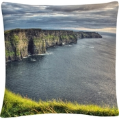 Trademark Fine Art Pierre Leclerc Cliffs Of Moher Ireland Decorative Throw Pillow