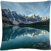 Trademark Fine Art Pierre Leclerc Moraine Lake Reflection Decorative Throw Pillow