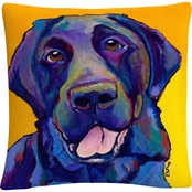 Trademark Fine Art Pat Saunders White Buddy Decorative Throw Pillow