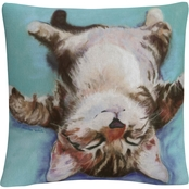 Trademark Fine Art Pat Saunders White Little Napper Decorative Throw Pillow