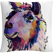 Trademark Fine Art Pat Saunders White Fabio Decorative Throw Pillow