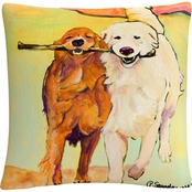 Trademark Fine Art Pat Saunders White Stick With Me Decorative Throw Pillow