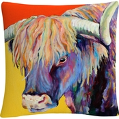 Trademark Fine Art Pat Saunders White Scotty Decorative Throw Pillow
