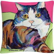 Trademark Fine Art Pat Saunders White Ursula Decorative Throw Pillow