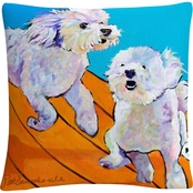 Trademark Fine Art Pat Saunders White Catch Me Decorative Throw Pillow