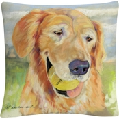 Trademark Fine Art Pat Saunders White Gus Decorative Throw Pillow