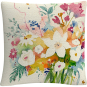 Trademark Fine Art Sheila Golden Dream Bouquet Decorative Throw Pillow