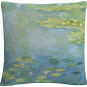 Trademark Fine Art Claude Monet Waterlilies Decorative Throw Pillow