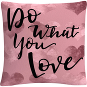 Trademark Fine Art Do What You Love Pink Decorative Throw Pillow