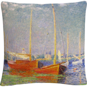 Trademark Fine Art Claude Monet Argenteuil Decorative Throw Pillow