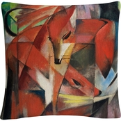 Trademark Fine Art Franz Marc The Fox Decorative Throw Pillow