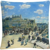 Trademark Fine Art Pierre Renoir Pont Neuf Paris Decorative Throw Pillow