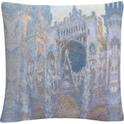 Trademark Fine Art Claude Monet Rouen Cathedral West Facade Decorative Throw Pillow