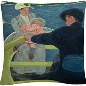 Trademark Fine Art Mary Cassatt The Boating Party Decorative Throw Pillow