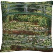 Trademark Fine Art Claude Monet The Japanese Footbridge Decorative Throw Pillow