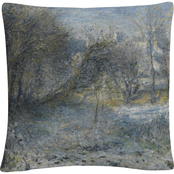 Trademark Fine Art Pierre Renoir Snowy Landscape Decorative Throw Pillow