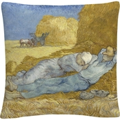 Trademark Fine Art Vincent van Gogh Siesta After Mille Decorative Throw Pillow