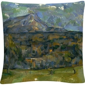 Trademark Fine Art Paul Cezanne Mont Sainte-Victoire Decorative Throw Pillow