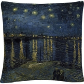 Trademark Fine Art Vincent van Gogh The Starry Night II Decorative Throw Pillow