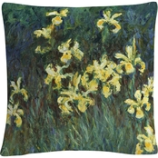 Trademark Fine Art Claude Monet The Yellow Irises Decorative Throw Pillow