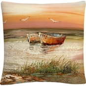 Trademark Fine Art Rio Florida Sunset Decorative Throw Pillow