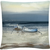Trademark Fine Art Rio Low Tide Decorative Throw Pillow