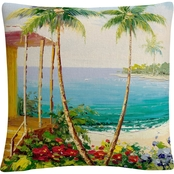 Trademark Fine Art Rio Key West Villa Decorative Throw Pillow