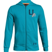 Under Armour Boys Rival Logo Full Zip Hoodie
