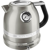 KitchenAid KEK1522SR Pro Line Series Electric Kettle, Sugar Pearl Silver