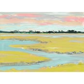 GreenBox Art Canvas Abstract Marsh 24x18