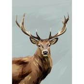 GreenBox Art Canvas Flocks & Herds, Yes Deer 10x14