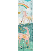 GreenBox Art Growth Chart, Magical Unicorn 12x42