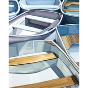 GreenBox Art Canvas Row Boats 18x24