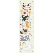 GreenBox Art Growth Chart, Playful Kittens 12 x 42