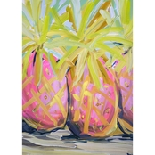 GreenBox Art Canvas Tropical Pineapples 14x18