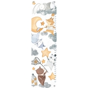 GreenBox Art Growth Chart Look At The Stars, Dreamers, White 12x42