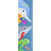 GreenBox Art Growth Chart, Sea Life 12x42
