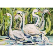 GreenBox Art Canvas Group of Egrets 24 x 18