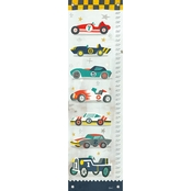 GreenBox Art Growth Chart, Vintage Racecar 12x42