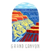 GreenBox Art Canvas National Parks, Grand Canyon 14x18