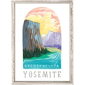 GreenBox Art Mini Framed Canvas National Parks, Yosemite 5 x 7