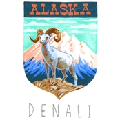GreenBox Art Canvas National Parks, Denali 14 x 18