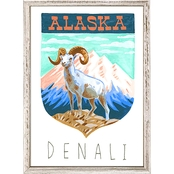 GreenBox Art Mini Framed Canvas National Parks, Denali 5x7