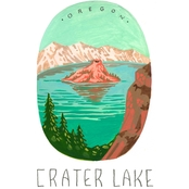 GreenBox Art Canvas National Parks, Crater Lake 14x18