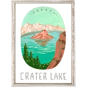 GreenBox Art Mini Framed Canvas National Parks, Crater Lake 5x7