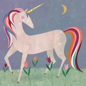 GreenBox Art Canvas Fairytale Unicorn 14 x 14