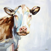 GreenBox Art Canvas Farm Cow 18x18