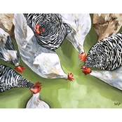 GreenBox Art Canvas Farm Flock 18x14